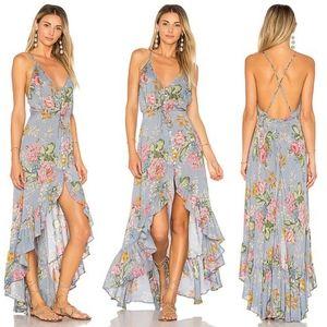 New Auguste Backless Delilah Bloom Dress Blue M 10